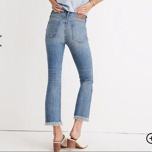 NWT Madewell 35T Cali Demi Boot Fringe jeans plus